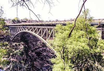 The border Bridge from Zambia to Zimbabwe