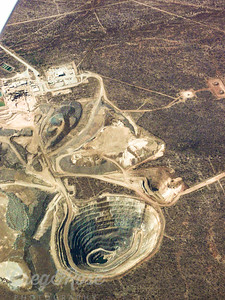 Air shot of a large mine