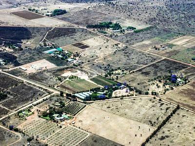 Air shot of Rural areas