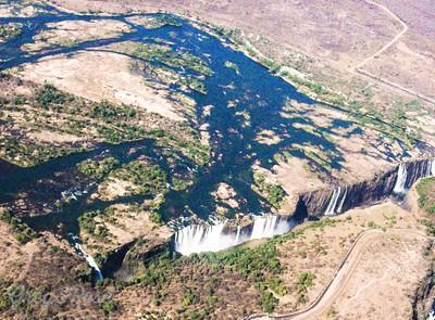 Air shot of Delta and Falls.