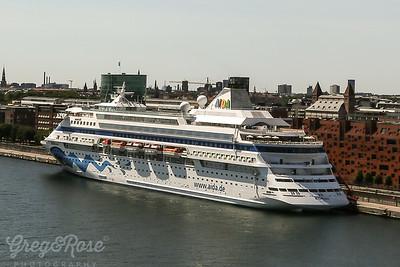 Cruise Ship tied up at Copenhagen