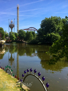 The Central lake of Tivoli gardens