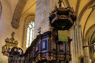 Ornate carved Pulpit
