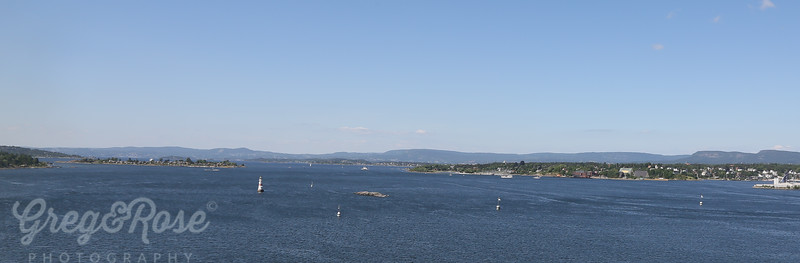 A view back up the seaway leading into oslo