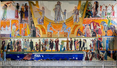 This is the southern Mural in side the Oslo Town Hall