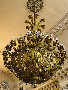 Chandelier , but bronze not gold