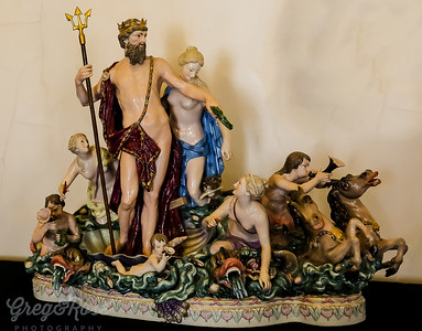 Stunning Porcelain (ceramic) art of Neptune
