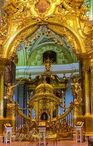 The Gilded entance to the main Sanctuary of the peter and Paul Cathedral
