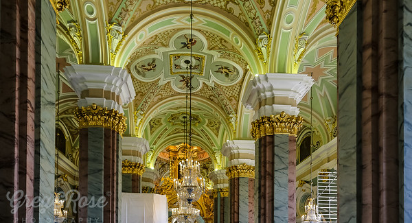 Marble , Gold , Mosaics and Murals at St Peter and St Paul Cathedral