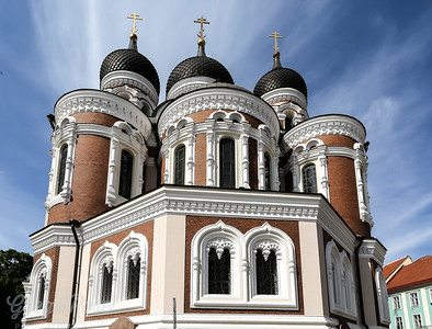 the rear side of Alexander Nevsky Cathedral, Tallinn