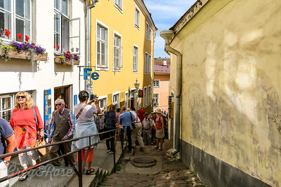 Narrow lanes and crowds