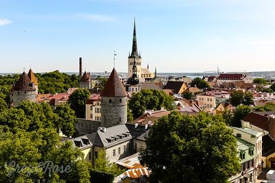 Overlooking the Lower town of Tallinn