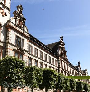 Row of beautiful ornate Buildings in Wismar