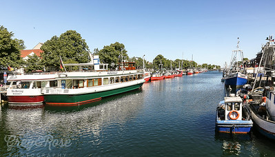 The old  canal between Rostock and Warnemunde