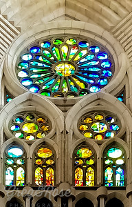 The beautiful windows and forms of Sagrada Familia