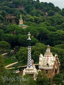A view from above Parque Guell, Gaudi's brilliance