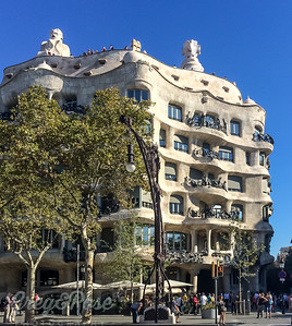 This is a Gaudi Design in the middle of Barcelona