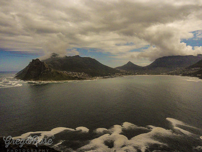 Looking across from table Mountain to the table view area