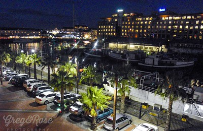 The Harbour Basin in Cape Town at night