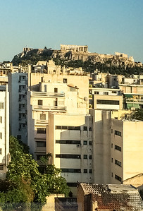 Apartments of Athens with the Acropolis behind