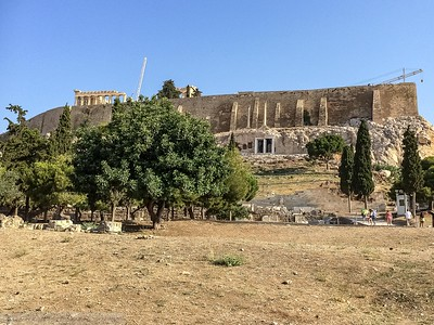 Acropolis as you see it from the Entrance near the Meuseum