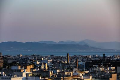 South view to the Port of Piraeus