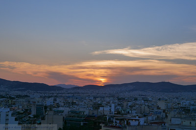 Typical Athens Sunset