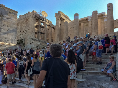 Typical of the crowds you encounter at The Acropolis