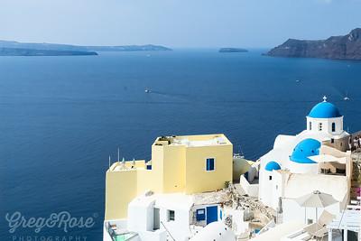 View plus Blue Domed Buildings