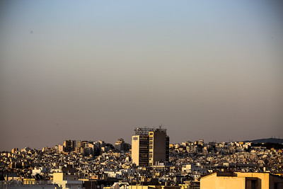 Cityscape of Athens and its haze