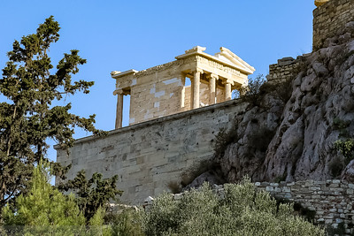 Fist view of the Temple of Athena Nike