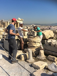 Restoration Workers at the Acropolis