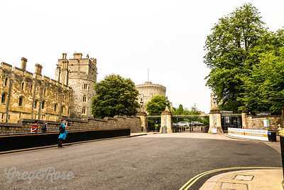 These gates to the Place areas at Windsor were closed and Guarded