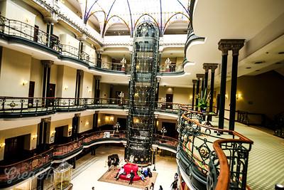 The Gran Hotel has a  stunning  atrium area