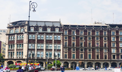 The outside view of the Gran Hotel Mexico City