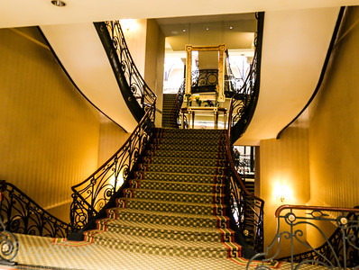 The wonderful main staircase of the Gran Hotel
