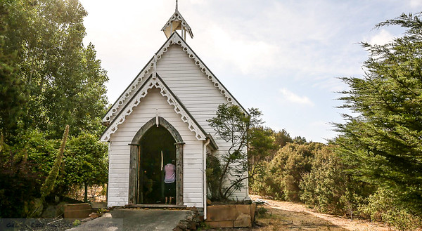 Church on the grounds of Hawley House , Tasmania