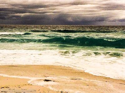Wild surf at the beach , Tasmania