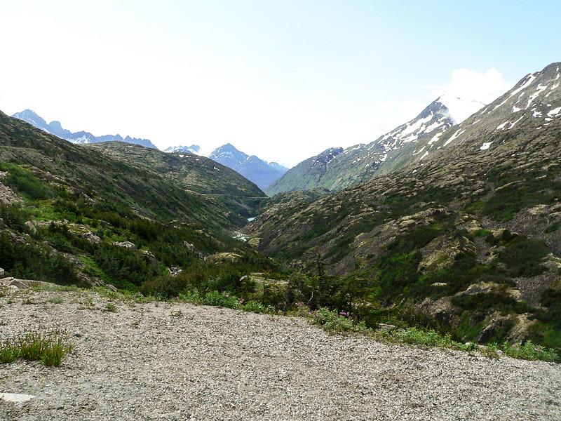 Glacier created Valley Alaska