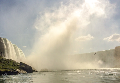 Not steam but Mist from the falls at Niagara.