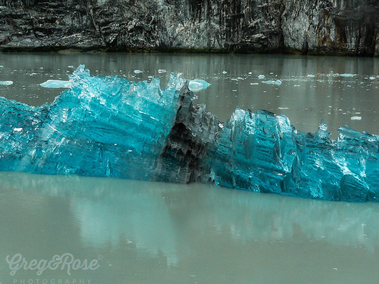 Large ice flow that broke off the Sawyer Glacier