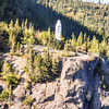 Statue of the Virgin Mary at the start of the Fiord to Saguenay La Baie, Quebec Canada