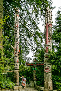 Rose and Three Totem Poles