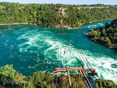 The meeting of the rivers above the Niagara Falls