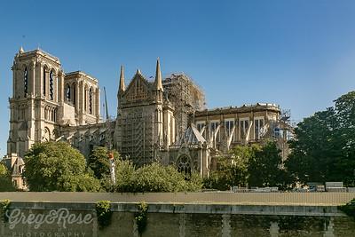 Notre Dame under repair