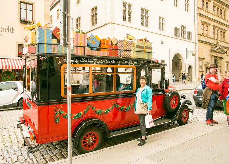 Christmas Bus in Rothenburg