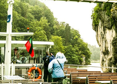 Travelling up the Danube Gorge.