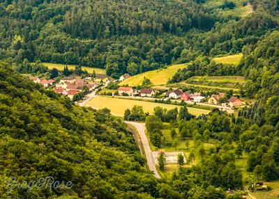 The Valley below Gottweig Abbey.
