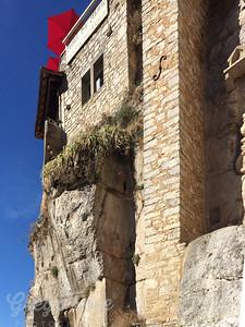 Rocamadour built into cliffs