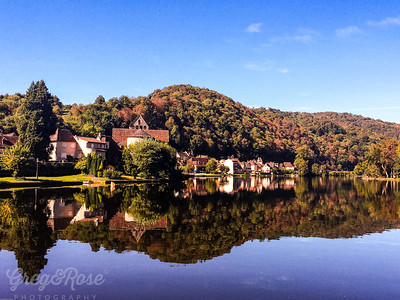 Beaulieu sur Dordogne  in Reflection